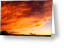Gallo Peak Fiery Skies  Greeting Card