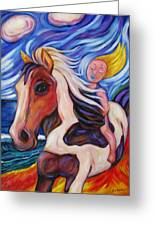 Gallop Along The Beach Greeting Card