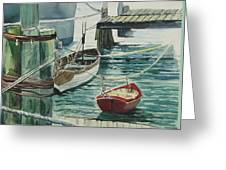 Galveston Boats Watercolor Greeting Card
