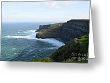 Galway Bay And Towering Cliffs Of Moher In Ireland Greeting Card