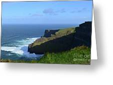Galway Bay Churning Below The Cliffs Of Moher Greeting Card