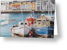 Galway Harbour Greeting Card by Vanda Luddy