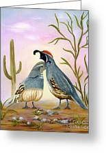 Gambel Quails Friends Forever Greeting Card