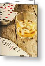 Gamblers Still Life Greeting Card