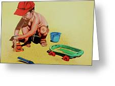 Game At The Beach - Juego En La Playa Greeting Card