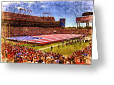 Game Day Nine Eleven Tribute Greeting Card by Andrew Armstrong  -  Mad Lab Images