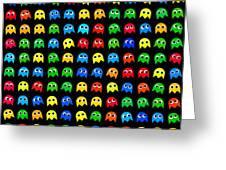 Game Monsters Seamless Generated Pattern Greeting Card