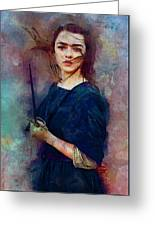 Game Of Thrones. Arya Stark. Greeting Card
