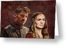 Game Of Thrones. Cersei And Jaime. Greeting Card
