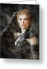 Game Of Thrones. Cersei Lannister. Greeting Card
