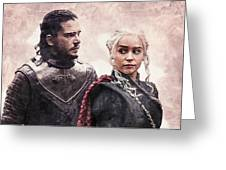 Game Of Thrones. Jon Snow And Daenerys Targaryen Greeting Card
