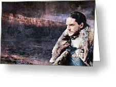 Game Of Thrones. Jon Snow. Greeting Card