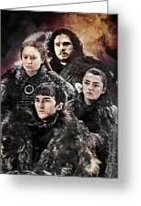 Game Of Thrones.the Last Of Stark. Greeting Card