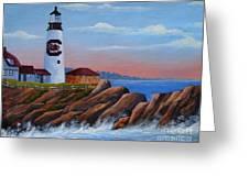 Gamecock Lighthouse Greeting Card