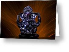 Ganesha With Fire Background Greeting Card