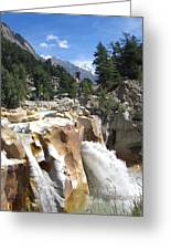 Ganges In Gangotri Close To Its Source Greeting Card