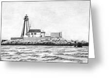 Gannet Rock Lighthouse Greeting Card