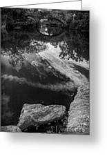 Gapstow Bridge In Central Park - Bw Greeting Card