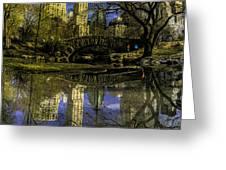 Gapstow Bridge In Central Park Greeting Card