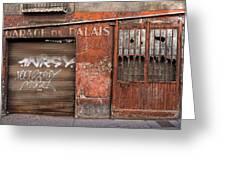 Garage Du Palais Greeting Card