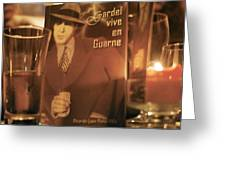 Gardel Vive En Guarne Four Greeting Card