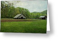 Garden And Barn Greeting Card