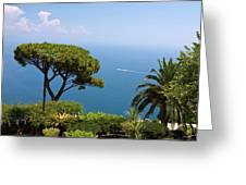 Garden And Bay Of Naples Greeting Card