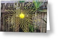 Yellow Sunflower Garden Art Greeting Card