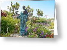 Garden At Carmel Mission-california Greeting Card