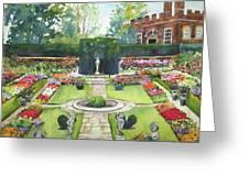 Garden At Hampton Court Palace Greeting Card