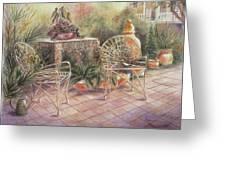 Garden At Linwood  Greeting Card