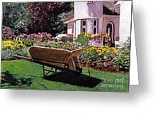 Garden At Patio Lane Greeting Card