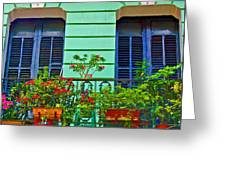 Garden Balcony Greeting Card