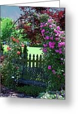 Garden Bench And Trellis Greeting Card