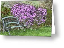 Garden Bench Greeting Card