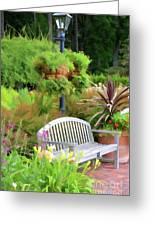 Garden Benches 5 Greeting Card