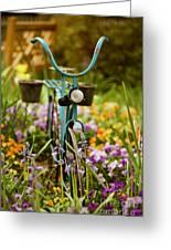 Garden Bicycle Greeting Card