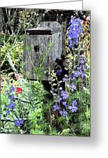 Garden Birdhouse Greeting Card