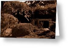 Garden Bridge Greeting Card