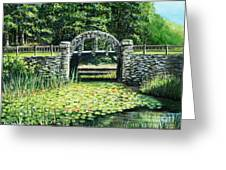 Garden Bridge Greeting Card