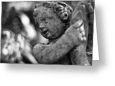 Garden Cherub Greeting Card