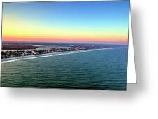 Garden City Ocean Sunset Greeting Card