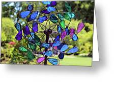Garden Colored Fan Greeting Card