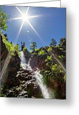 Garden Creek Falls Greeting Card