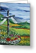 Garden Cross Greeting Card