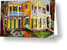 Garden District Home  Greeting Card