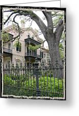 Garden District House Greeting Card