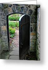 Garden Door Greeting Card