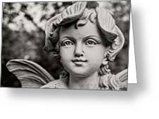 Garden Fairy - Sepia Greeting Card