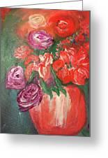 Garden Flowers In Vase 1 Greeting Card